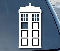Amazon Com Doctor Who Tardis Car Window Vinyl Decal Sticker 5 Tall Color White Automotive Window Vinyl Car Window Stickers Vinyl Decal Stickers