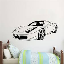 Ferrari Front Racing Car Wall Stickers Mural Pvc Wall Decal Transport Bedroom Decor Living Room Decoration Art Poster W020 Pipdawn V