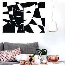 Wall Decal Symbol Theatrical Art Laugh And Crying Masks Vinyl Wall Sticker Bedroom Creative Art Home Decor Man Cave Mural M100 Wall Stickers Aliexpress