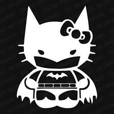 Hello Kitty Batman Vinyl Decal The Stickermart
