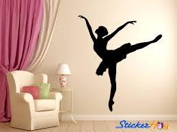 Ballerina Dancer Ballet Wall Decal Silhouette 4 Wall Decal Sticker Bedroom Home Studio Decor