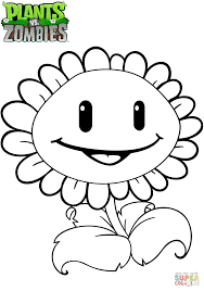 Sunflower Plants Vs Zombies Coloring Pages