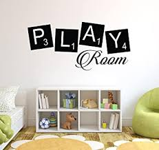 Amazon Com Play Room Kids Vinyl Wall Art Quote Home Family Decor Decal Word Phrase Baby