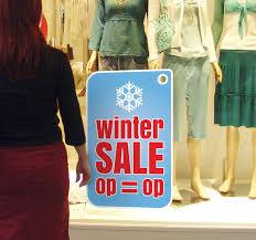 Winter Season Sale Window Sticker Tenstickers