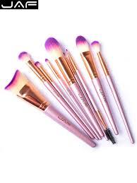 jaf 9pcs professional make up brushes