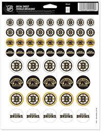 Amazon Com Wincraft Nhl Boston Bruins Vinyl Sticker Sheet 8 5 X 11 Sports Fan Automotive Decals Sports Outdoors