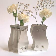 25th anniversary sterling silver vases
