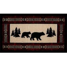 bear adventure rustic bathroom rug