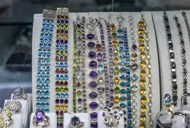 gold jewelry in the display window
