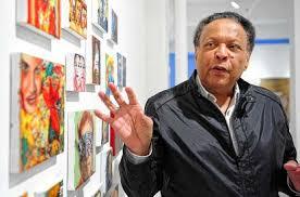 Ex-newsman John Johnson's art portrays his life – as well as Angelina Jolie  and Lady Gaga - New York Daily News