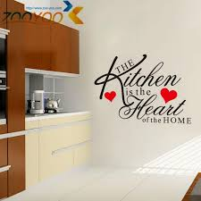 The Kitchen Is The Heart Of The Home Quote Wall Decal Zooyoo8191 Decorative Adesivo De Parede Removable Vinyl Wall Sticker Vinyl Clings For Walls Vinyl Decals For Walls From Totwo3 6 46 Dhgate Com