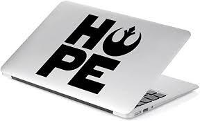 Amazon Com Yoonek Graphics Star Wars Rebel Hope Vinyl Decal Sticker 862 4 X 3 8 Black Automotive