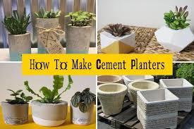 cement planters diy concrete planters