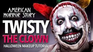 a creepy makeup and mask
