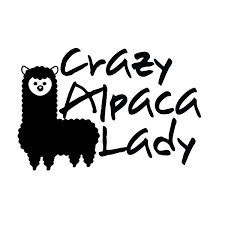 Crazy Alpaca Lady Decal Window Bumper Sticker Car Decor Farm Camelid Love Pet Car Sticker Wish