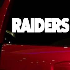 Raiders Auto Window Sticker Decal For Car Truck Suv Wish