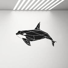 Modern Geometric Killer Whale Orca Wall Decal Sea Animal Decor Waterproof Vinyl Stickers For Kids Rooms Bathroom Classroom Removable Wall Decal Removable Wall Decals From Joystickers 11 67 Dhgate Com