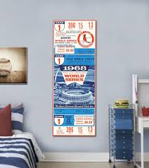 Mustang Products St Louis Cardinals 1968 Game 1 World Series Ticket Wall Decal Wayfair