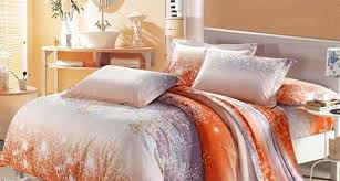 images white and orange bedding
