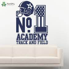 Yoyoyu Wall Decal America Football Sport Wall Sticker Helmet Pattern No 1 Quote Removable Boys Bedroom Home Decor Poster Cy245 Wall Stickers Aliexpress