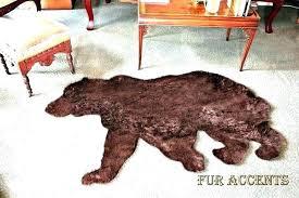 polar bear rug fake faux bearskin teddy