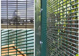 Pvc Coated High Security Steel Wire Fencing Wire Fence Panel 4mm Wire 3 1 2 Hole For Prison