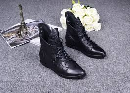 genuine leather ankle boots pointed toe