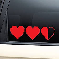 Hearts 8 Bit Retro Video Game Gaming Vinyl Decal Laptop Car Truck Bumper Window Sticker Red B00uey5dbs Amazon Price Tracker Tracking Amazon Price History Charts Amazon Price Watches Amazon Price