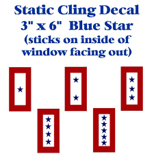 Blue Star Static Cling Decal 3 X 6 Www Serviceflags Com