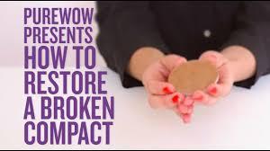 how to repair a broken makeup pact