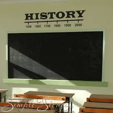 History Classroom Vinyl Wall Decal Timeline Graphic Simple Stencils