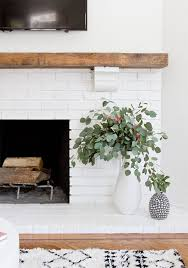 diy white brick fireplace