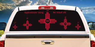 505 Zia Nm New Mexico Flag Vinyl Stickers 15 Sizes 9 Colors Ebay