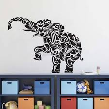 Floral Elephant Wall Stickers For Kids Rooms Household Products Vinyl Walls Decals Removable Stickers On The Wall Wall Decals Decor Wall Decals Design From Moderndecal 12 3 Dhgate Com