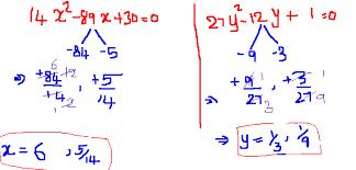 shortcut to solve quadratic equations