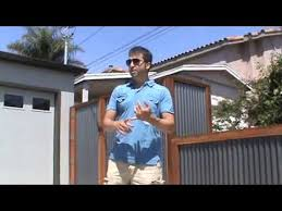 Wood Framed Corrugated Steel Perimeter Yard Fence With Matching Gates And Garbage Enclosure Youtube