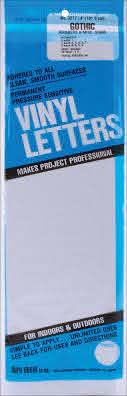 Permanent Adhesive Vinyl Numbers 4 49 Pkg White 29211321728 Ebay