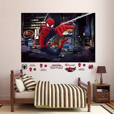 Shop Fathead Ultimate Spider Man Mural Real Big Wall Decal 72 W X 48 H Wall Vinyl Overstock 17747140