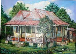 Abandoned Old House in Rural Jamaica with Zinc Roofing by the Artist Webster  Campbell in 1993 | Zinc roof, Old house, Roofing