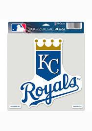 Kansas City Royals 8x8 Perect Cut Auto Decal Grey 575625