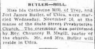 Ida Catherine Butler (Willi) (1877 - 1924) - Genealogy