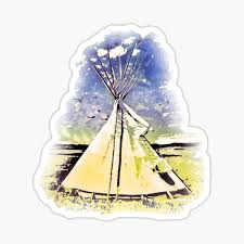 Teepee Stickers Redbubble