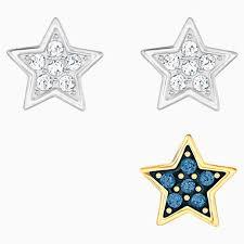 crystal wishes star pierced earring set