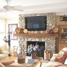 decorate a fireplace mantel with a tv
