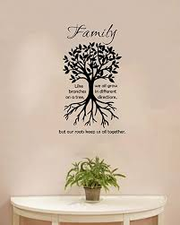 Amazon Com Valuevinylart Family Like Branches On A Tree We All Grow In Different Direction But Our Roots Keep Us All Together Wall Decal 13 X 22 Home Kitchen