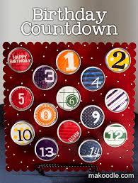 birthday countdown makoodle