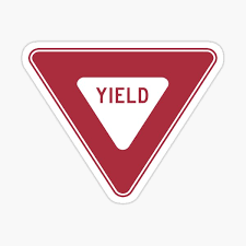 Yield Sticker By Vintage Shirts Redbubble