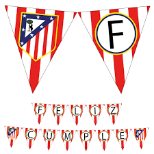 Atletico Madrid Happy Birthday Printable Banner Party Banderin