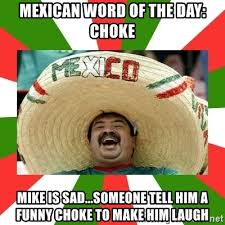 choke mike is sad someone tell him a