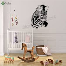 Zebra Hand Jungle Wall Sticker Vinyl Art Removeable Home Decoration Animal Kidsroom Baby Decor Decals Ornament Lx59 Wall Stickers Aliexpress